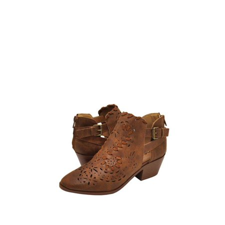 99644f4478b8 Qupid - Qupid Montana 07 Women s Woven Perforated Western Booties -  Walmart.com