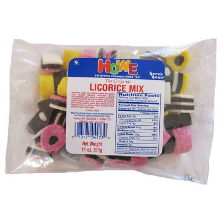 Howe Licorice Mix Candy, 11 oz