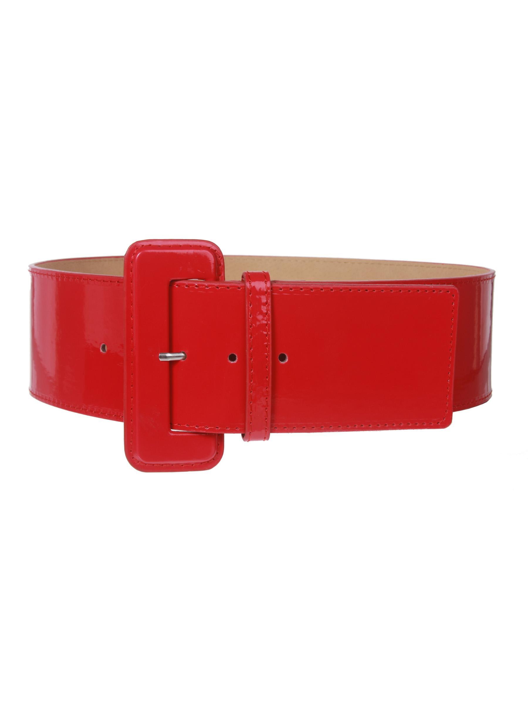 Ladies High Waist Wide Patent Fashion Plain Leather Belt