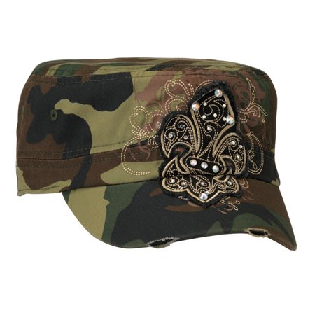 Blazin Roxx Women's Fleur De Lis Military Cap Camo OS
