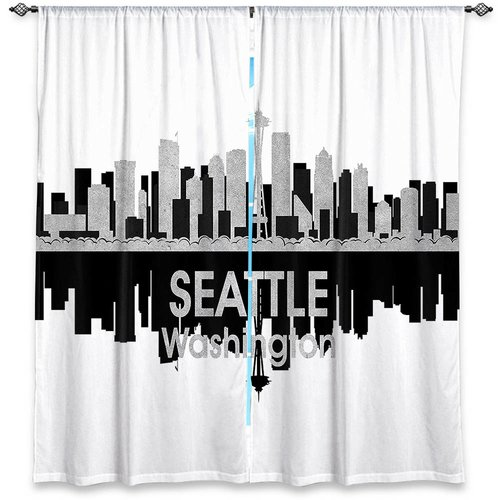 East Urban Home City IV Seattle Washington Angelina Vick's Room Darkening Curtain Panels (Set of 2)