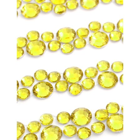 Gold Tone Self Adhesive Crystal Rhinestone Car DIY Decor Stickers 255mm x 90mm - image 1 de 2