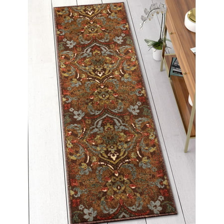 Well Woven Kings Court Florence 2 X 7 Runner Traditional Persian Brown Non