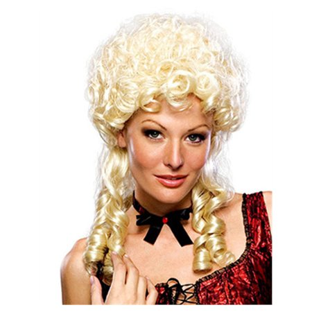 - Adult Womens Blonde Colonial Marie Antoinette Victorian Maiden Costume Wig