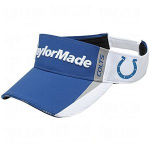 Taylor Made NFL Visor (Indianapolis Colts) Blue/Silver 2011 Golf Hat NEW