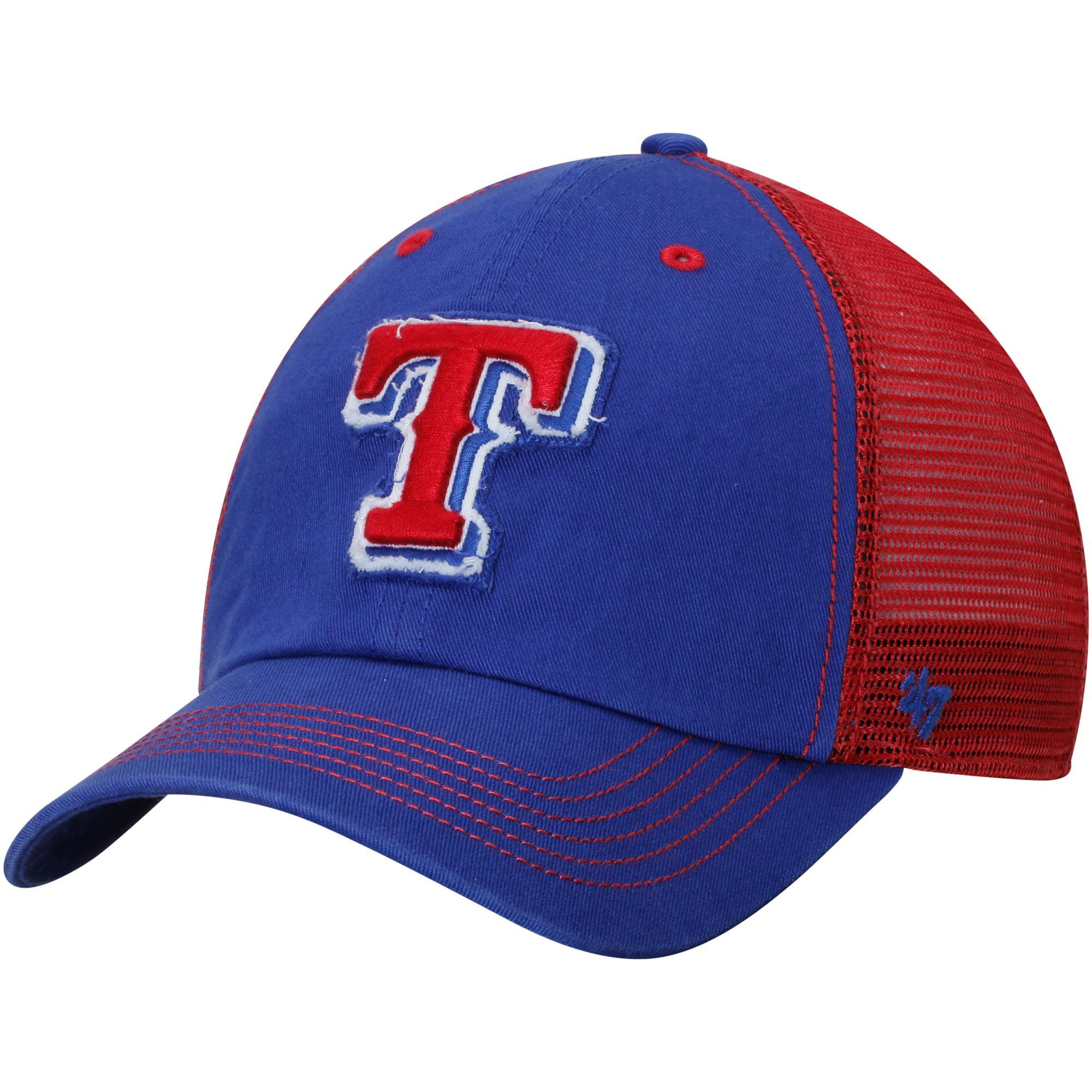 Texas Rangers '47 Brand Taylor Closer Flex Hat - White/Royal Blue