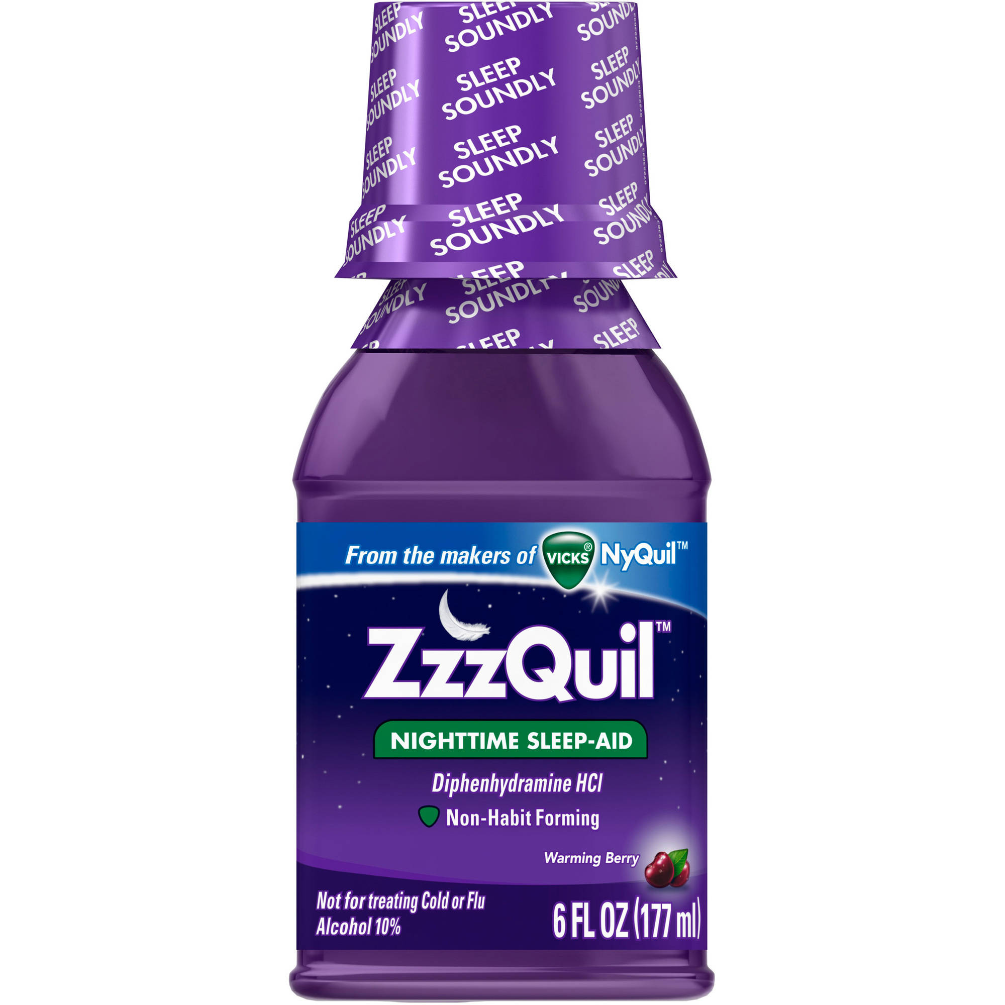 ZzzQuil Nighttime Sleep-Aid Warming Berry Liquid, 6 fl oz
