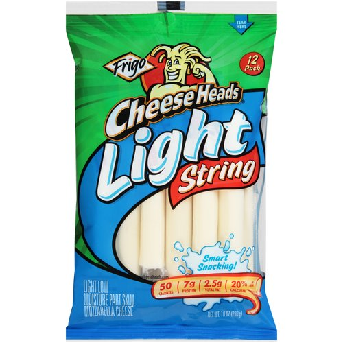 Frigo Cheese Heads Light String Cheese, 12 pack, 10 oz