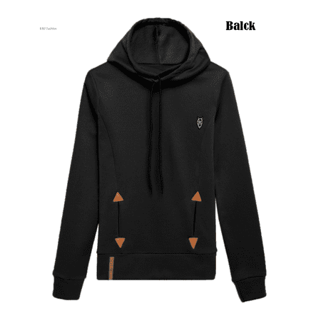 Valentine's Day Gift For Women, Gray / Black /Pink Pocket Hoodies Sweatshirt Tops for Women , Women's Long Sleeve Pullover Tops with Trendy Solid Funnel Neck,