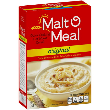 Wheat Relief Packs - (2 Pack) Malt-O-Meal Quick Wheat Hot Cereal, Original, 36 Oz