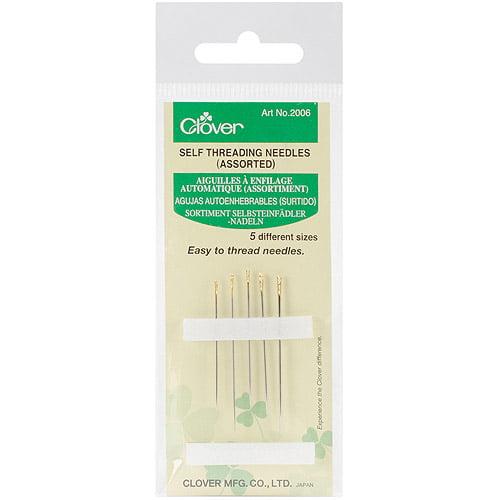 Clover Self-Threading Needles, 5-Pack
