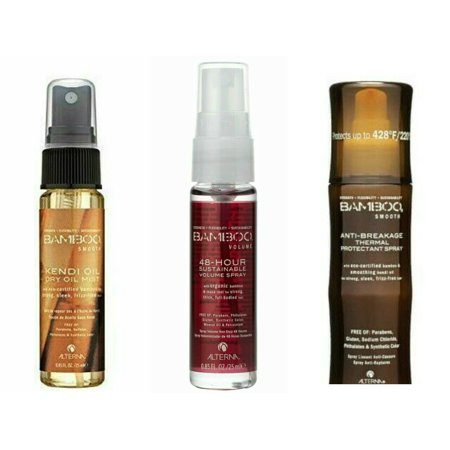 Altern Bamboo Kendi Dry Oil Mist -Volume 48 Hour Spray -Thermal Heat Protectant 0.85 Travel (Alterna Bamboo 48 Hour Sustainable Volume Spray)