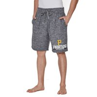 Men's Concepts Sport Charcoal Pittsburgh Pirates Handshake Fleece Jam Shorts