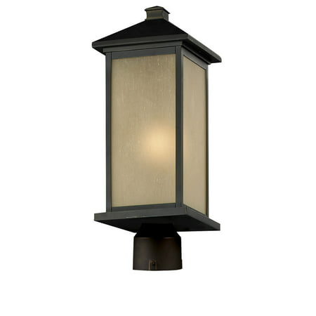 Outdoor Accessory 1 Light With Oil Rubbed Bronze Finish Aluminum Medium Base Bulb 10 inch 100 Watts