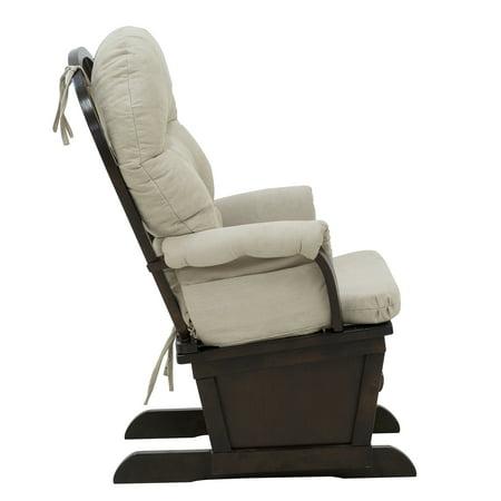 HOMCOM Nursery Glider Rocking Chair with Ottoman Set