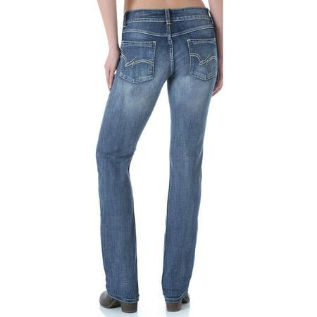 Wrangler Apparel Womens  Straight Leg Jeans 0x34 Dark Indigo