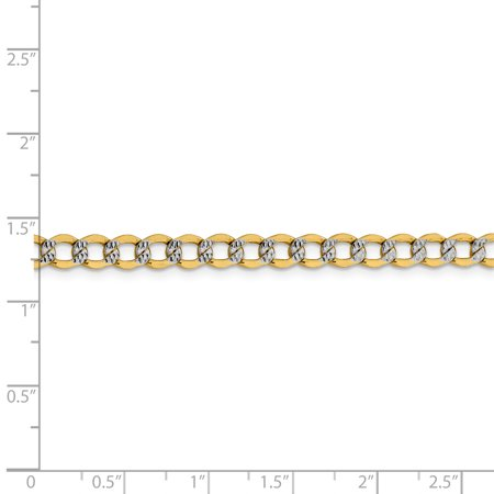 14k Yellow Gold 5.2mm Link Curb Chain Anklet Ankle Beach Bracelet 7 Inch : Fine Jewelry Gifts For Women For Her - image 7 de 8