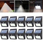 ELEOPTION 10 Pack Outdoor Waterproof 20 LED Solar Light Motion Sensor Wireless Solar Power Lamp Garden Wall Yard Deck Security Night Light (Pack of 10)
