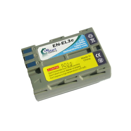 D80 En El3e Battery Charger - Replacement Nikon EN-EL3E Battery for Nikon EN-EL3, EN-EL3A, D100, D50, D70, D70s, D200, D300, D300s, D700, D80, D90 Digital Cameras (1600mAh, 7.4V, Lithium-Ion)