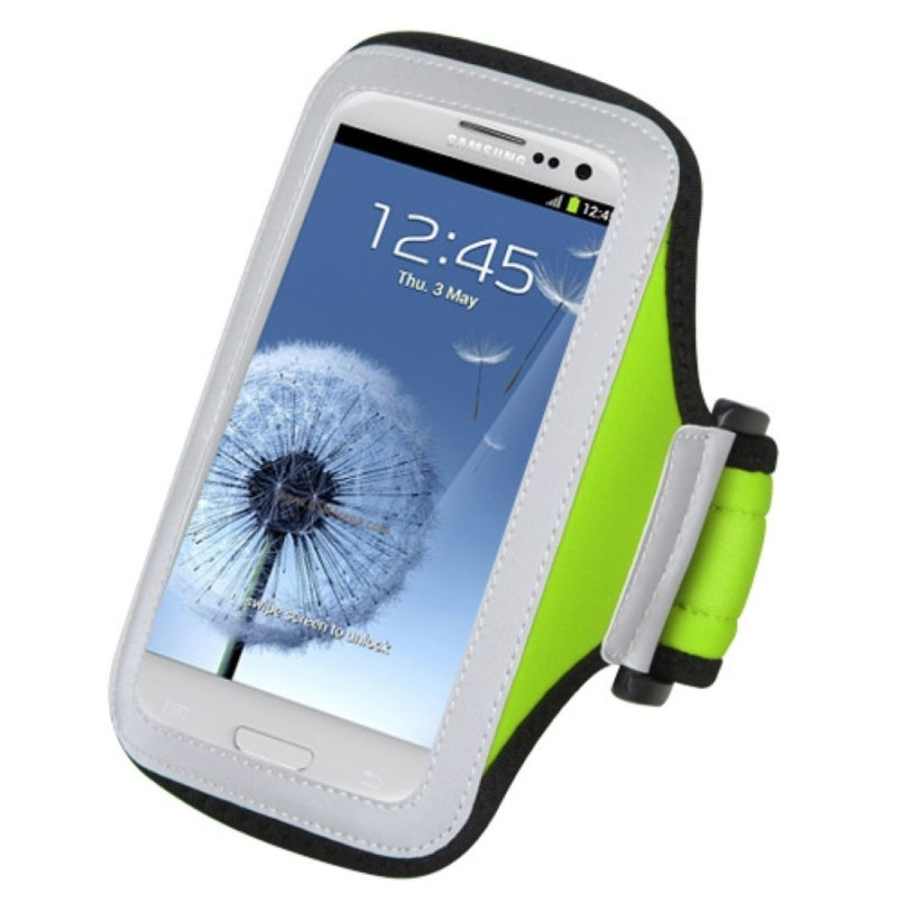 Insten Vertical Universal Light Green Sports Workout Exercise Running Gym Cycling Armband Case Phone Holder - image 2 of 3