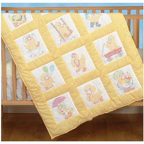 "Jack Dempsey Baby Ducks Nursery Quilt Blocks, 12Pk, 9"" x 9"""