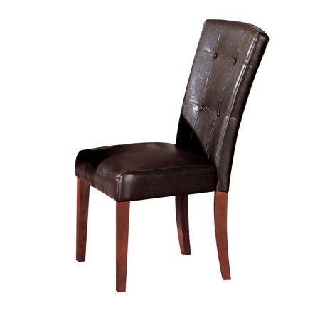 ACME Bologna Side Chair, Espresso PU & Brown Cherry (Set of 2)