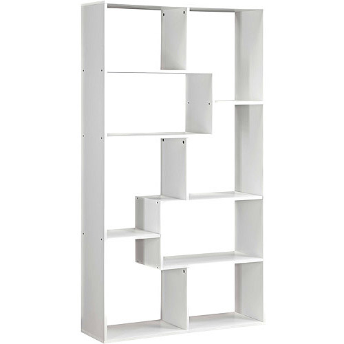 Tall Bookshelf White Skinny Open Large Slender Storage Ikea Cubby Shelving  Unit