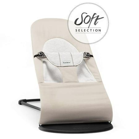 BabyBjorn Bouncer Balance Soft - Beige/Gray, Jersey Cotton