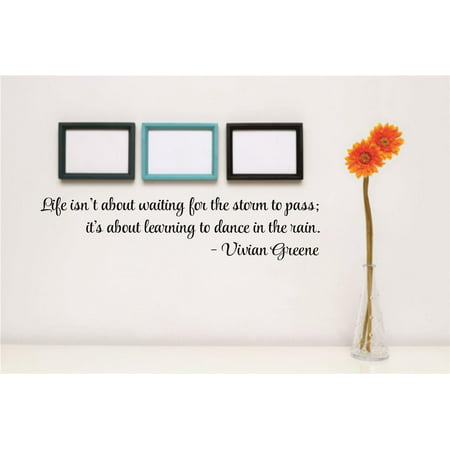 Custom Wall Decal Sticker Life Isnt About Waiting For The Storm