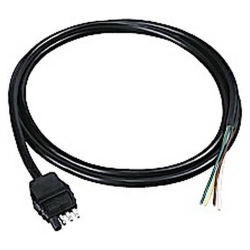 4-Flat Trailer End Connector, 8' Jacketed Cable Replacement Auto Part, Easy to Install