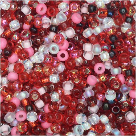 Miyuki Round Seed Beads, 11/0 Size, 8.5 Gram Tube, #MIX05 Strawberry Fields Mix