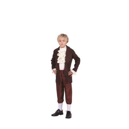 Thomas Jefferson Child Costume, Large - Brown & Beige (Port Jefferson Halloween)