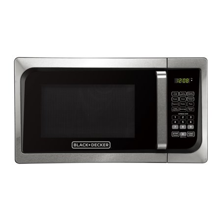 Black & Decker EM925AJK-P1 0.9 Cu. Ft. Microwave With Pull Handle, Stainless (Design Stainless Steel Lined Vacuum)