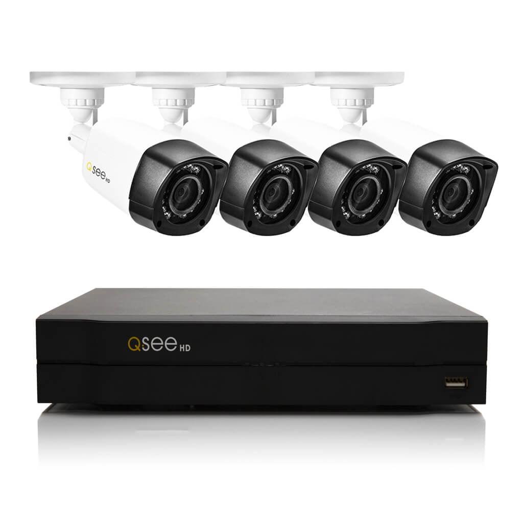 Q-See QC958-4V2-1R 8-Channel Network DVR Surveillance Kit...