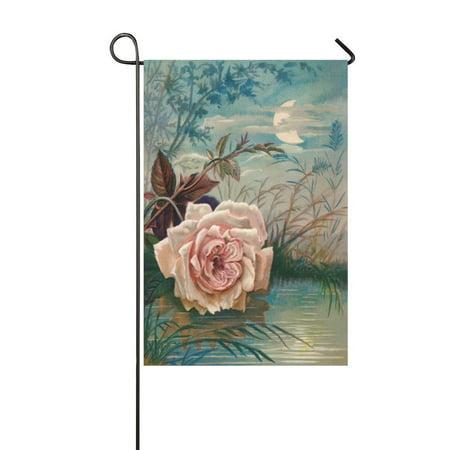 MYPOP Mother's Day Flower Long Garden Flag Banner 12 x 18 - Mother's Day Banner