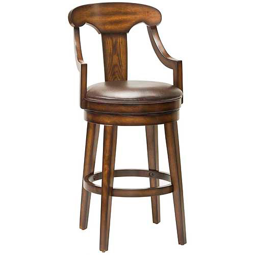 "Hillsdale Furniture Upton 45.5"" Swivel Bar Stool, Rustic Oak Finish"