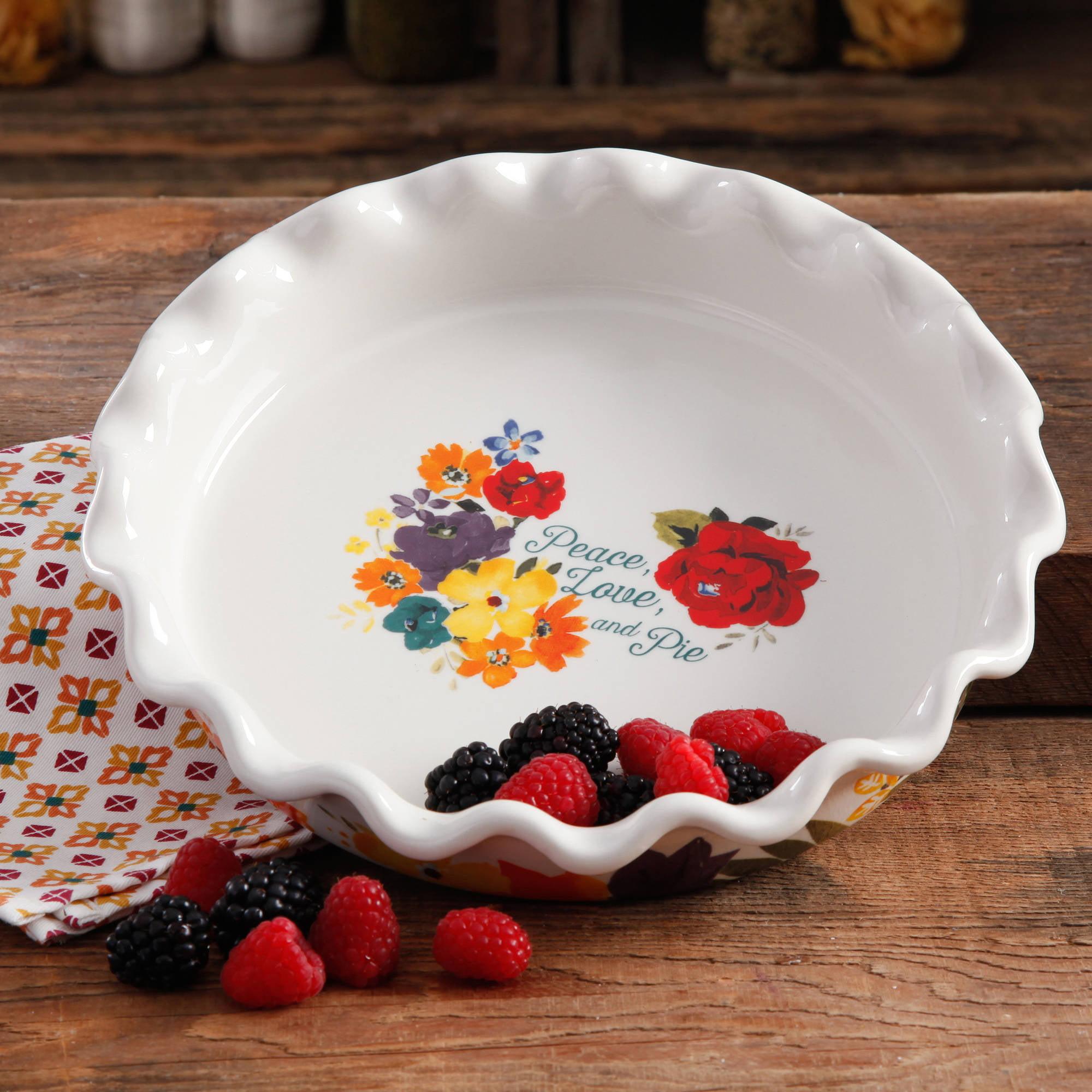 & The Pioneer Woman Pie Pan Timeless Flrl - Walmart.com