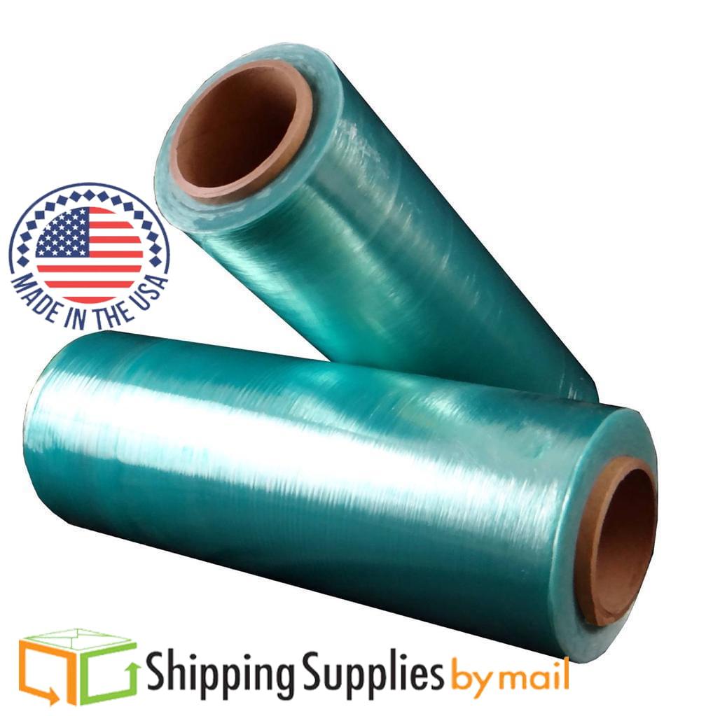 Green Tint Hi-Perf Stretch Wrap, Hand Film 12 in x 1500 ft x 47 Ga, 32-pk by SSBM