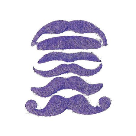 12 synthetic mustache assortment - costume moustache (purple) by fun express (Costume Express Reviews)