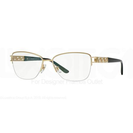 4b8c00dd7538a Versace Eyeglasses Ve 1220b 1002 Gold 54mm