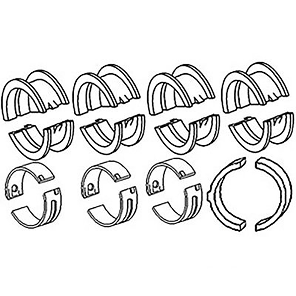 Mb504 New Main Bearing Washer Set Made For Case Ih Tractor Models