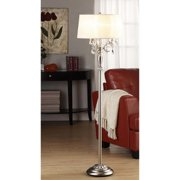 iNSPIRE Q Silver Mist 1-light Crystal Chrome Floor Lamp by  Classic