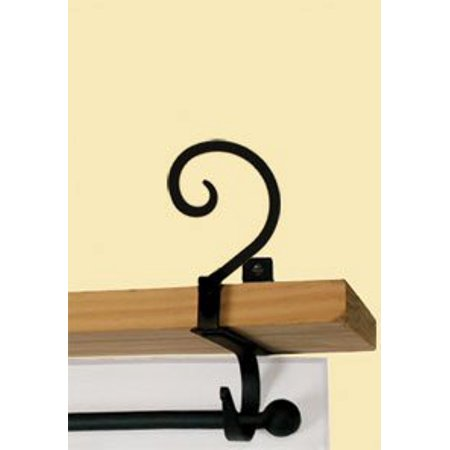 Village Wrought Iron CUR-SB-103 Scroll Curtain Shelf - Scrolled Wrought Iron
