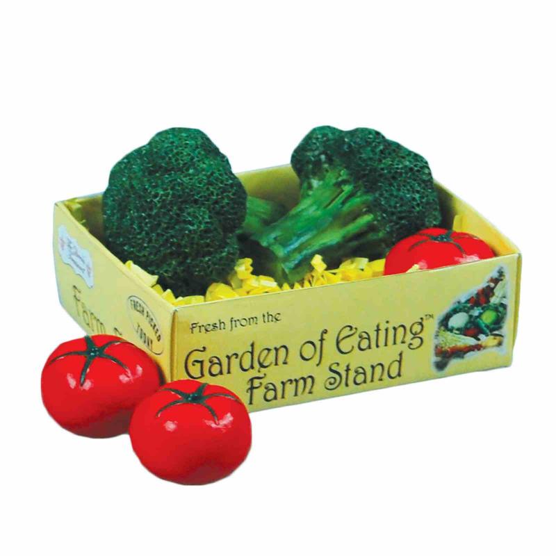 18 Inch Doll Farm Fresh Food Accessory, Broccoli & Tomatoes In Veggie Crate