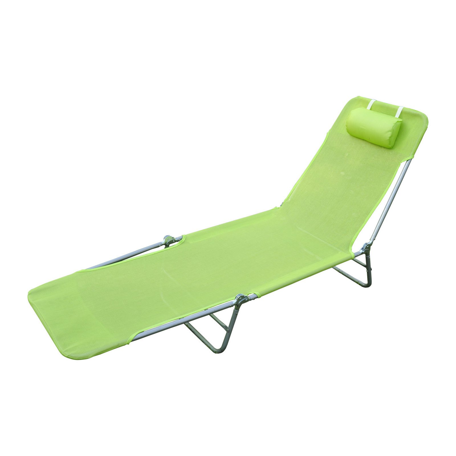Outsunny Beach Sun Adjustable Reclining Lounge Chair