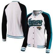 Jacksonville Jaguars New Era Women's Varsity Full Snap Jacket - White/Black