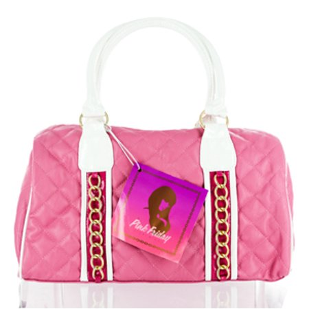Large Quilted Purse Set (PINK FRIDAY  NICKI MINAJ PINK QUILTED SATCHEL PURSE HANDBAG Miscellaneous )