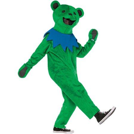 Green Grateful Dead Dance Bear Adult Halloween Costume