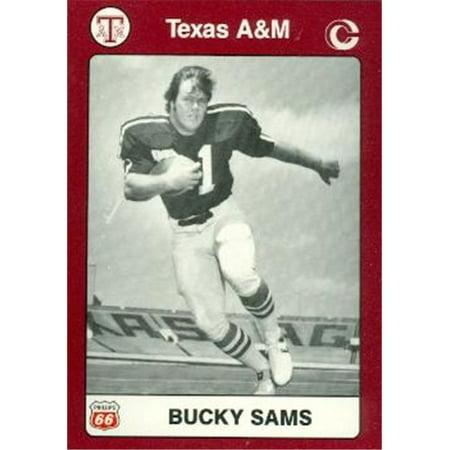 Bucky Sams Football Card (Texas A&M) 1991 Collegiate Collection No.57 - Texas A&m Football Helmets Halloween