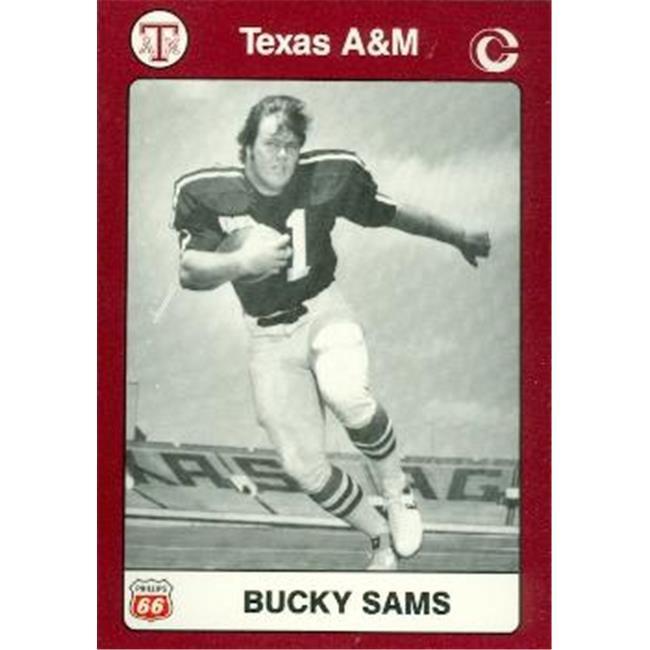 Bucky Sams Football Card (Texas A&M) 1991 Collegiate Collection No.57